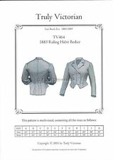 Riding Habit Jacket Bodice pattern by Truly Victorian for 1883 era TV464