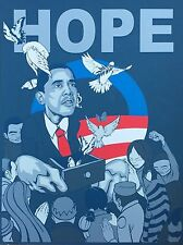 Sam Flores Obama Hope Print / Manifest Hope / Shepard Fairey