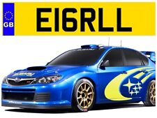 E16 RLL EARL EARLS LORD LORDY EROL ERROL EROLLS PRIVATE NUMBER PLATE JAGUAR AUDI