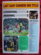 Liverpool 0 Arsenal 2 - 1989 title decider - souvenir print
