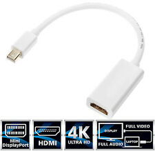 4K Thunderbolt Mini Display Port MDP to HDMI Cable M/F Adapter 2160P Macbook PC