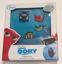 NIB Disney Store Finding Dory Limited Edition Pin Set LE 800 Nemo Marlin Hank
