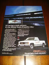1989 GMC INDY INDIANAPOLIS 500 PICKUP TRUCK  ***ORIGINAL AD***
