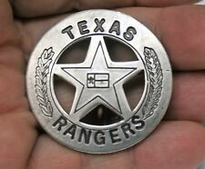 Reproduced Vest Size 1 3/4 Dia     Texas Rangers    Round Star Center Flag Badge