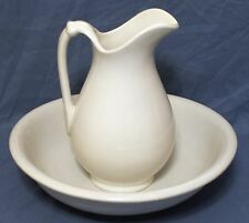 White Ironstone Pitcher and Bowl - Knowles, Taylor & Knowles Co., East Liverpool
