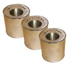 3 Dosen & 3 Sparplatten Gelkamin Kamin Brenngeldosen Bioethanol Bioethanolkamin