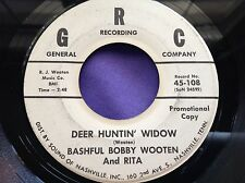Hear Rare Country Bopper 45 : Bashful Bobby Wooten and Rita ~ Goin' Deer Huntin'