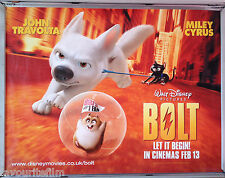 Cinema Poster: BOLT 2009 (Quad) John Travolta Miley Cyrus Malcolm McDowell