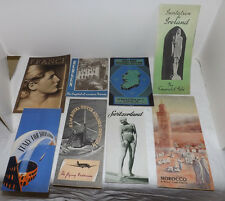 (8) Assorted 1930s TRAVEL BROCHURES Ireland-Switzerland-Morocco-France-KLM-Italy