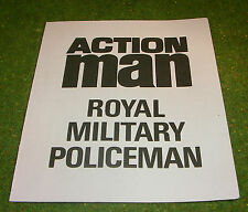 VINTAGE ACTION MAN 40th MANUAL LEAFLET ROYAL MILITARY POLICE