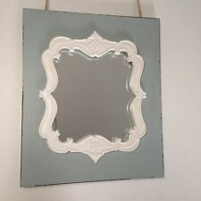 Shabby Chic Vintage Style Distressed Rectangular Frame with Mirror