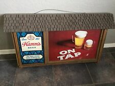 "Large Hamms Vintage Lighted Beer Sign 34 x 19 - ""On Tap"""