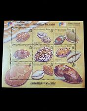 Seashells stamps from Solomon Island Cowries of the Pacific 2002 Limited edition