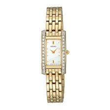 NEW SEIKO SEKSUJG58P1 LADIES GOLD AND SWAROVSKI WATCH