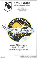 "Starfighter Decals 1/48 SIKORSKY SEA KING ""OLD 66"" Apollo 13 Recovery Helicopter"