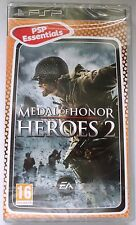 MEDAL OF HONOR HEROES 2 SONY PSP ESSENTIALS SHOOTER GAME brand new & sealed UK !