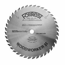 "FORREST 10"" WOODWORKER II TABLE SAW BLADE WWII-10407100 5/8 Bore .100 Kerf"