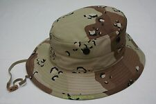 MIL-SPEC CHOCOLATE CHIP 6-COLOR DESERT CAMO BOONIE SUN HAT SIZE 7 1/4 U.S. MADE