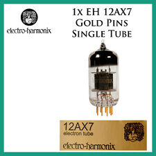 New 1x Electro Harmonix Gold 12AX7 / ECC83 | Gold Pins | One / Single Tube