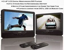 "LOGIK L9DUALM13 9"" Twin Screen In-Car & Portable, DVD Player+USB+SD Card Slot"