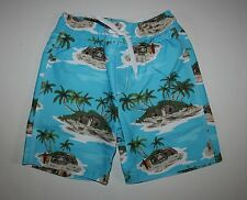 New Gymboree Tropical Island Blue Swim Trunks Size 5 Year NWT Outback Adventure