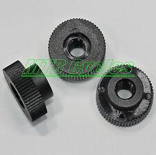 10 BLACK Plastic Nylon M4 Thumb Nuts With Collar, 15mm OD - Knurled