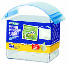 VISION WINDOW FEEDER Gardman Plastic Blue Bird Table | FREE Fast Delivery!