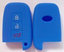 BLUE CAR SMART KEY COVER for HYUNDAI VELOSTER SR IX35 ACCENT ELANTRA I30