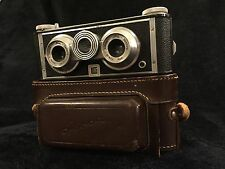 Iloca Stereo II 3D 35mm Film Camera Jlitar Lens 5p Realist Format w Leather Case