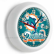 MIAMI DOLPHINS NFL FOOTBALL TEAM LOGO WALL CLOCK MAN CAVE GARAGE BEDROOM DECOR