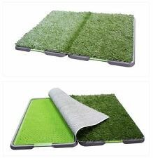 NEW Large 86x68cm Portable Dog Pet Training Potty Patch Grass Toilet Loo Tray