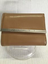 GUESS CAMEL FAUX LEATHER BIFOLD WALLET NWOT