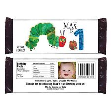 12 The Very Hungry Caterpillar Party Favor Personalized Candy Wrappers