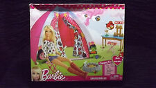 Barbie Accessory Angry Birds Camping Fun Tent Table Benches Campfire New [GS V]