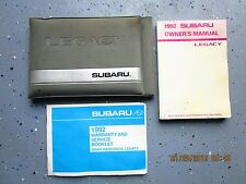 1992-92 SUBARU LEGACY RIGHTHAND DRIVE USER OWNER MANUAL GUIDE INFORMATION BOOK