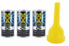 BG MOA motor oil additive (3) 11oz. cans with a funnel From the makers of BG44k