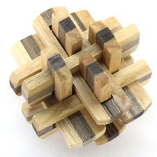 IQ Mind 3D Wooden Brain Teaser Burr Interlocking Puzzle Game Toy for Adults Kid