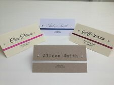 SAMPLE ribbon personalised wedding / party place name cards