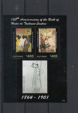 Guyana 2014 neuf sans charnière Henri de Toulouse-Lautrec 150e anniv naissance 2v s / s Moulin Rouge