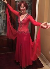 Chrisanne Ballroom smooth dance dress with Swarovsky sequins size 2-4 small