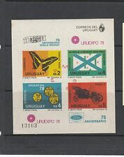 Uruguay 1978 Anniversaries Sc 1007 IMPERF MS mint never hinged