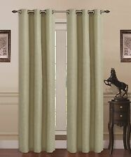 Union Square Room Darkening Grommet Window Panel Curtain Heavy Linen Sage Green