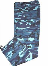 BDU PANTS TWILL 6 POCKETS SKY BLUE CAMO SIZE SMALL 29-31