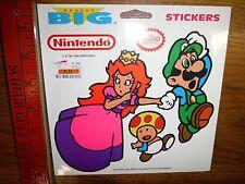 Huge 7x7 inch Vintage 1990 Nintendo Super Mario  Bros Princess Peach Stickers