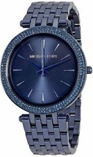 NEW WOMENS MICHAEL KORS (MK3417) DARK NAVY BLUE DARCI SUNRAY WATCH