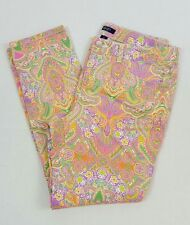 Chaps Women's Multi-Colored Floral Jeans Tapered Leg Size 12