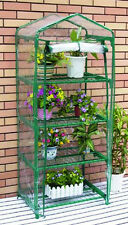 NEW 4 Shelf Mini Greenhouse PVC Cover! Outdoor Hot House Shelves Flowers