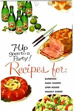 7-UP Goes to a Party!~1961 Vintage~7up Advertising Recipe Booklet~Free Shipping!