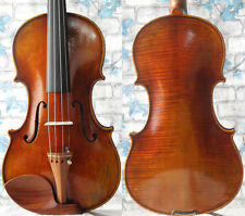 Master handmade antique violin stradivari 1716, vintage varnish fiddle