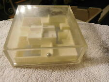 Vintage 1977 reiss 304 ball bearing brain teaser cube  hand held game,toy
